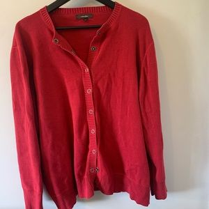 2/$18 Cotton Ginny / Snap Closure / Red /Cardigan